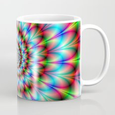 Spiral Rosette in Blue Green and Red Coffee Mug