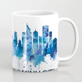 Ho Chi Minh City Vietnam Skyline Blue Coffee Mug