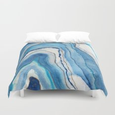 AGATE Inspired Watercolor Abstract 02 Duvet Cover