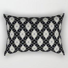 Unbounded Medallion on black Rectangular Pillow