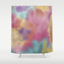 Spring watercolor Shower Curtain
