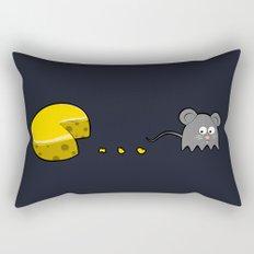 Retro Video Game Humor Cheese Man Rectangular Pillow