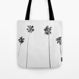 Black & White Palms Tote Bag