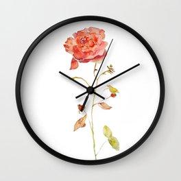 Rose & Hips Wall Clock