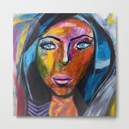 Powerful Woman Metal Print