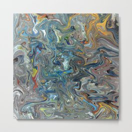 Abstract Oil Painting 19 Metal Print