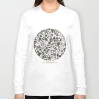 medicine Long Sleeve T-shirts featuring Medicine a sphere by aleksander1