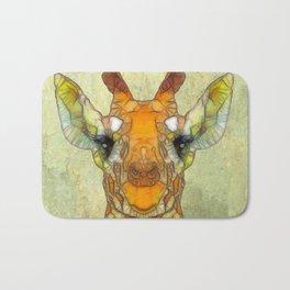 abstract giraffe calf Bath Mat