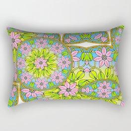 Color Me Spring Mandala Rectangular Pillow