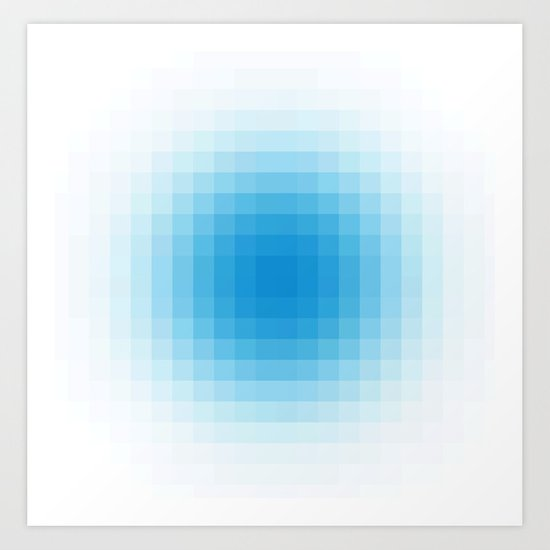 Blue Haze - Pixel Art Print