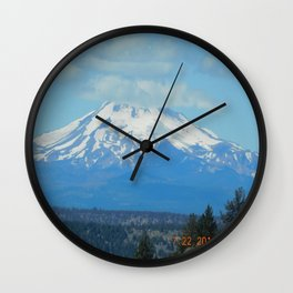 road trip, mountain, mt hood, mnt hood, oregon Wall Clock
