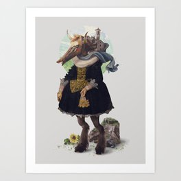 Country-girl, City-life Art Print