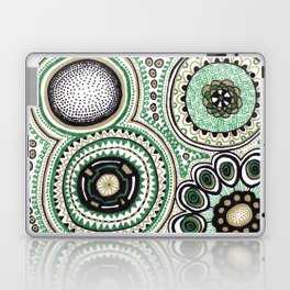 Green and Gold Rings Laptop & iPad Skin