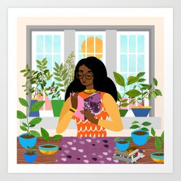 Windowsill Art Print