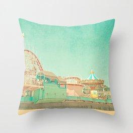 Santa Cruz Boardwalk Throw Pillow