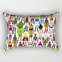 Superhero Butts - Girls Superheroine Butts Rectangular Pillow