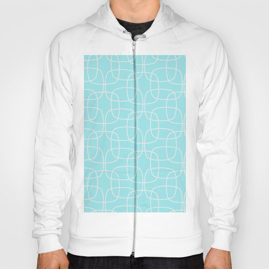 Square Pattern Mint Hoody