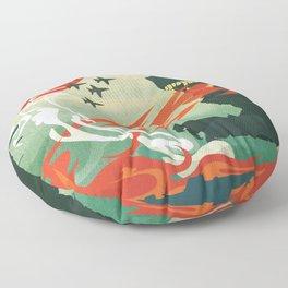 Tokyo or Bust Floor Pillow