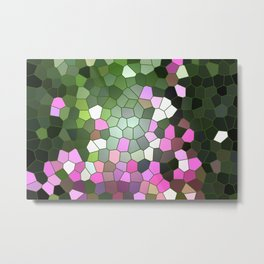 Lavender garden Stained glass Metal Print