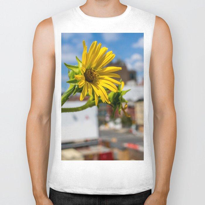 Yellow Flower in NYC Biker Tank