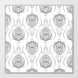 Art Deco 40 . Light Grey background Forever . Canvas Print