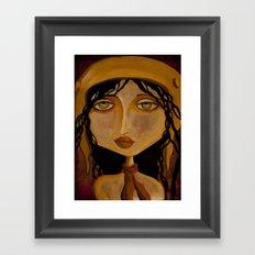 Pilot Girl Framed Art Print