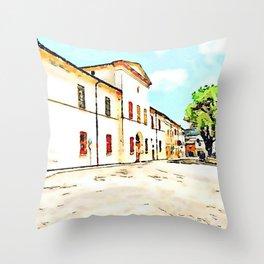 Fognano: monastery Throw Pillow