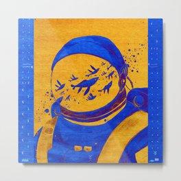 N72 - Oriental Berber Spaceman Underwater. Metal Print