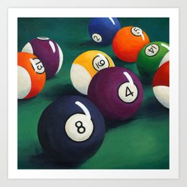 Billiards Art Print