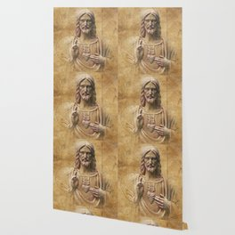 Vintage Drawing of Jesus Christ - Religious Wallpaper