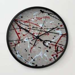 A Study in Lilac Wall Clock