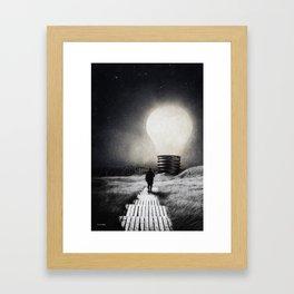 Follow the light ... Framed Art Print
