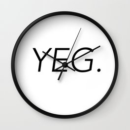 YEG City Code - Edmonton Wall Clock