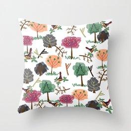 Nature's Essences Collection-White  Throw Pillow