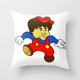 Jump Man Shigeru Miyamoto Throw Pillow