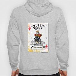 Queen of Cincinnati Bike Print Hoody