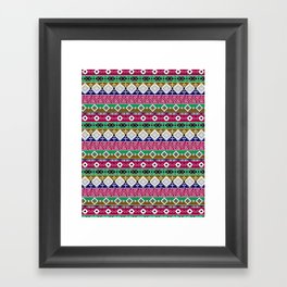 Ornament in the style of hippies. Framed Art Print
