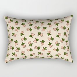 Jingle Balls, Christmas Holly and Testicles in Cream Rectangular Pillow