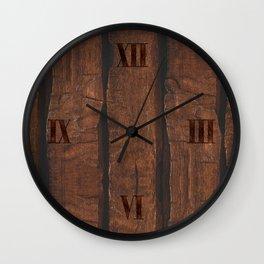 Rustic brown old wood Wall Clock