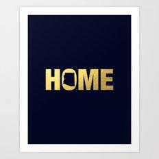 Arizona home state faux gold foil print Art Print