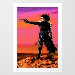 Ragnarok with gun Art Print