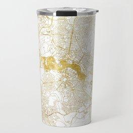 Canberra Map Gold Travel Mug