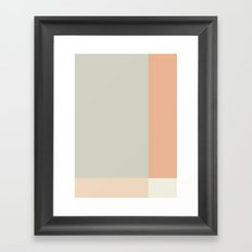Minimal Abstract Peach Framed Art Print