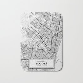 Bogota, Colombia City Map with GPS Coordinates Bath Mat