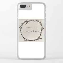 Not Alone Clear iPhone Case