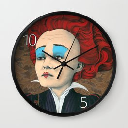 janis the red queen Wall Clock