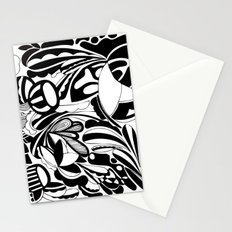 afraid to be happy Stationery Cards