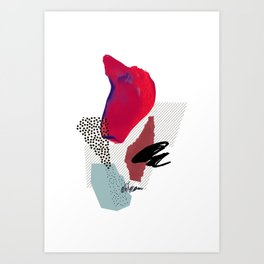 Musings // Abstract collage Art Print