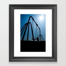 Abandoned Swing Set Framed Art Print