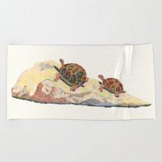 The Tortoise on a Rock Beach Towel
